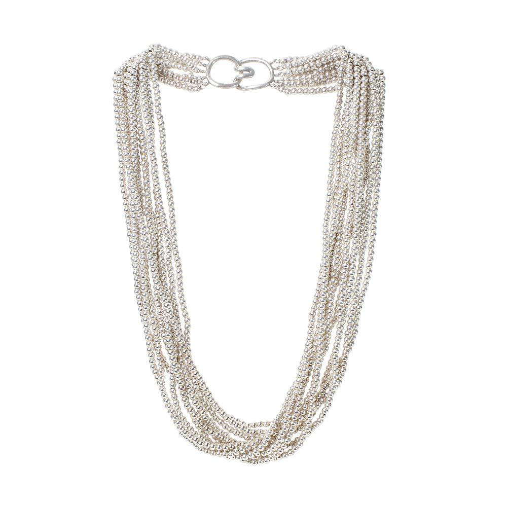 Tiffany + Co Multi- Strand Torsade Bead Necklace
