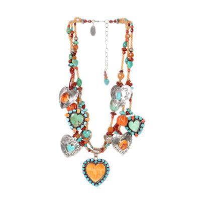 Kim Yubeta Multi Gemstone Necklace