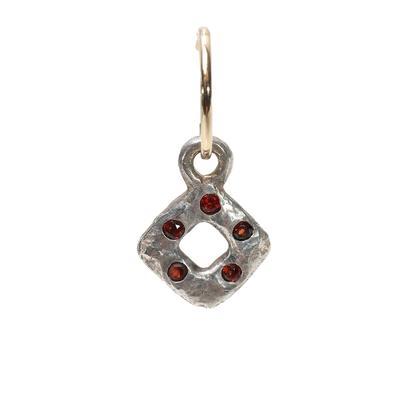 Lee Brevard Tiny Diamond Old Money With Stone Earring