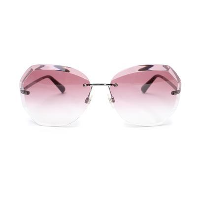 Chanel Rimless Violet Gradient Sunglasses