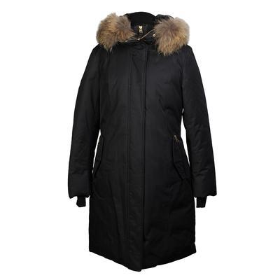 Mackage Size Large Racoon Fur Trim Down Coat
