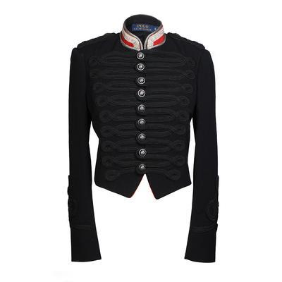 Polo Ralph Lauren Size 6 Black Military Officer Blazer