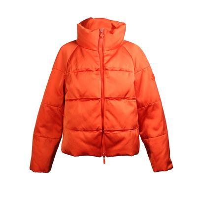Moncler Size Small Orange Puffer Jacket