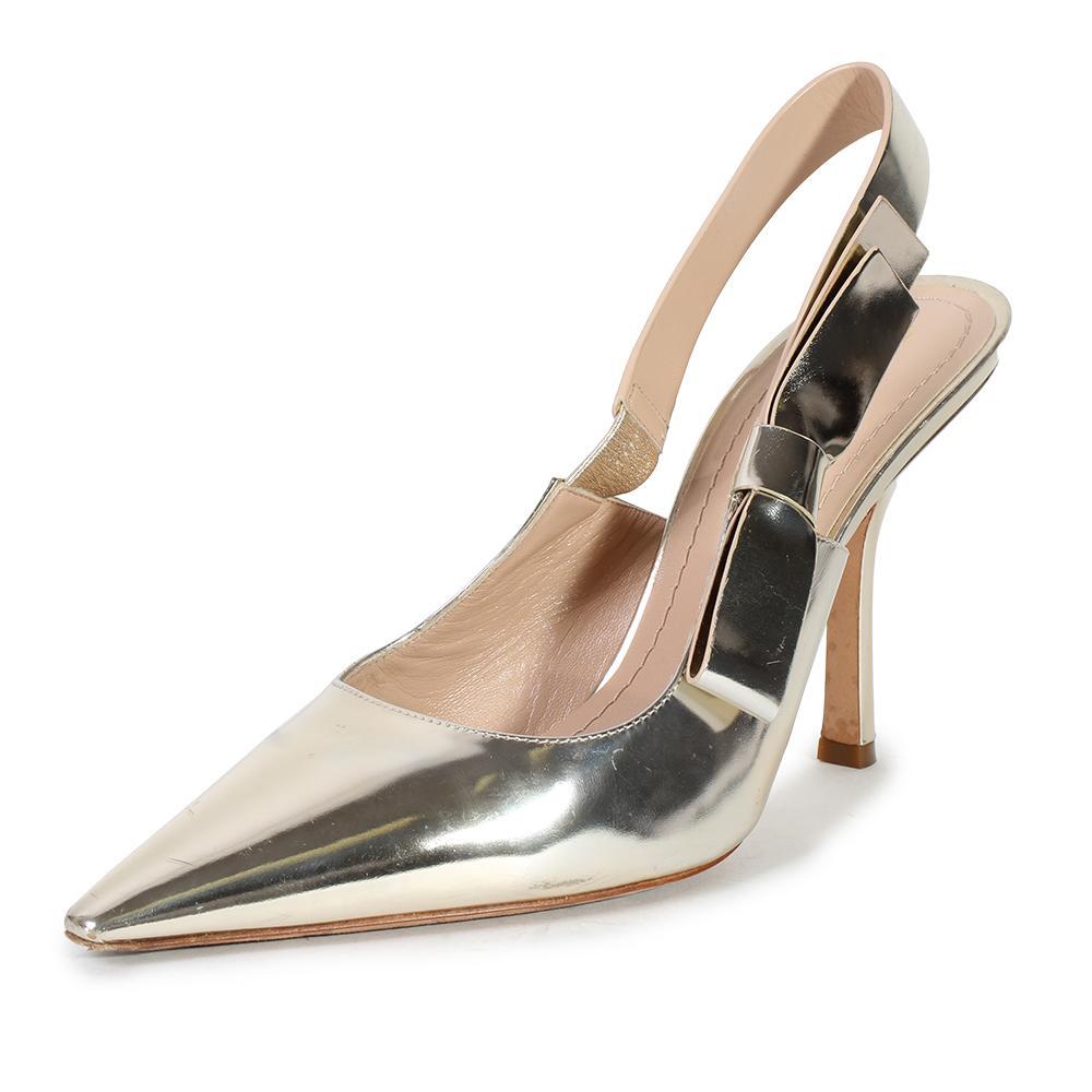 Christian Dior Size 39.5 J ' Adior Gold Sweet D Sandal Heel Pumps
