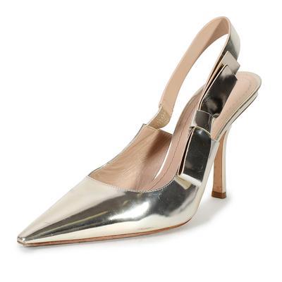 Christian Dior Size 39.5 J'adior Gold Sweet D Sandal Heel Pumps