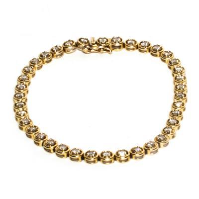 14K Yellow Gold 2.28K Diamond Bracelet