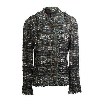 St. John Size 6 Couture Ribbon Tweed Jacket