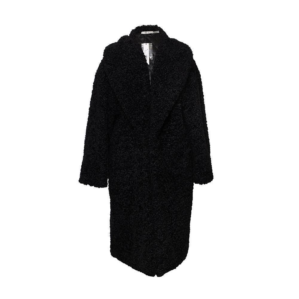 Alice & Olivia Size Medium Black Teddy Coat