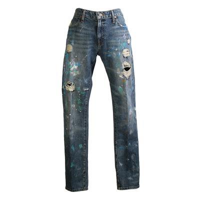 Polo Ralph Lauren Size 28 Astor Boyfriend Distressed Jeans