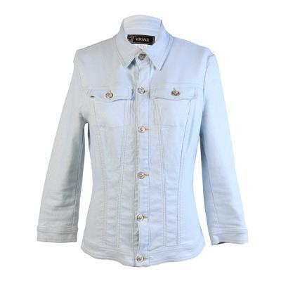 Versace Size Large Blue Shimmery Jacket