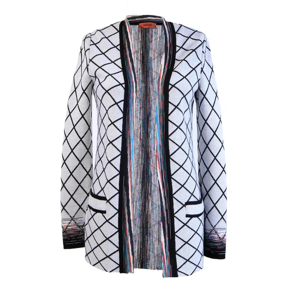 Missoni Size Medium Grey Multi Sweater