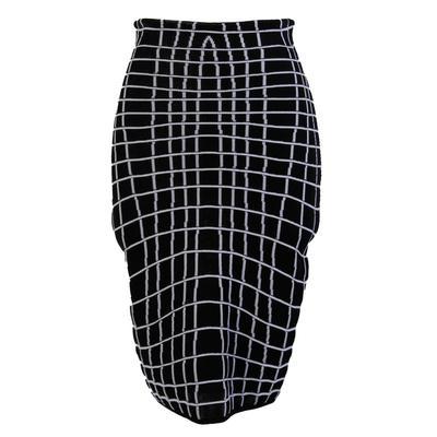 Balmain Size 36 Black & White Skirt