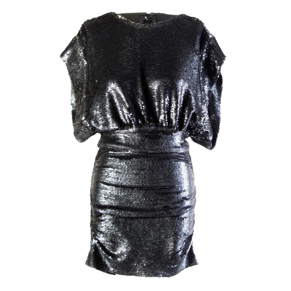 Iro Anthracite Size 38 Blue Sequin Dress