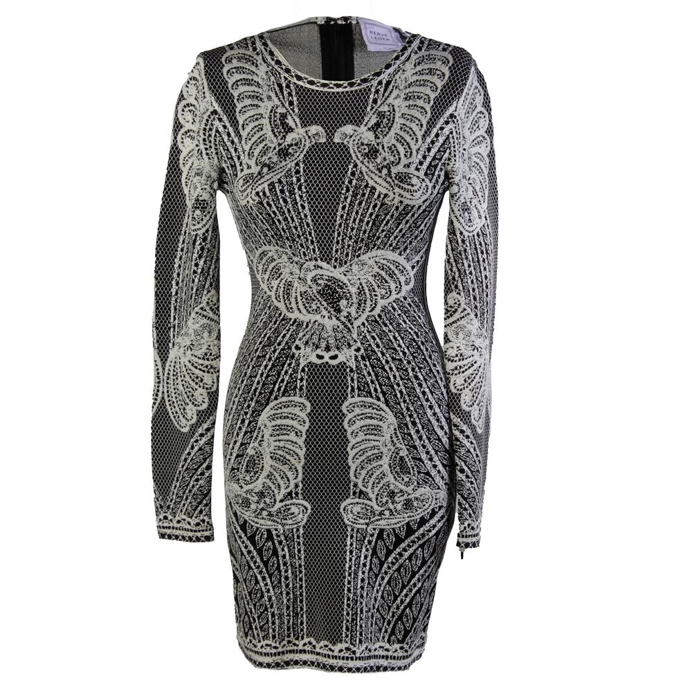 Herve Leger Black Xs Short Dress