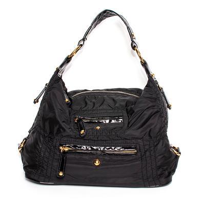 Tod's Black Nylon Pashmy Sacca Handbag