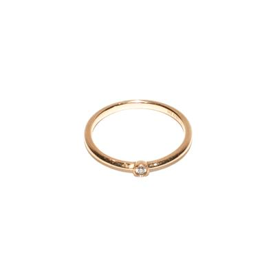 Bony Levy Size 6 18K Gold Diamond Ring