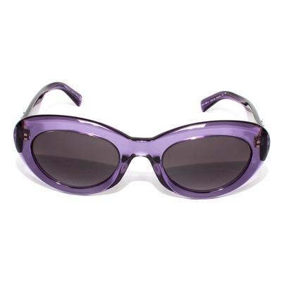 Versace Transparent Purple Studded Sunglasses