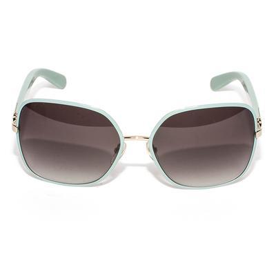 Salvatore Ferragamo Blue Square Sunglasses