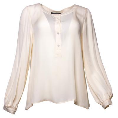 Nili Lotan Size Large Off White Silk Top