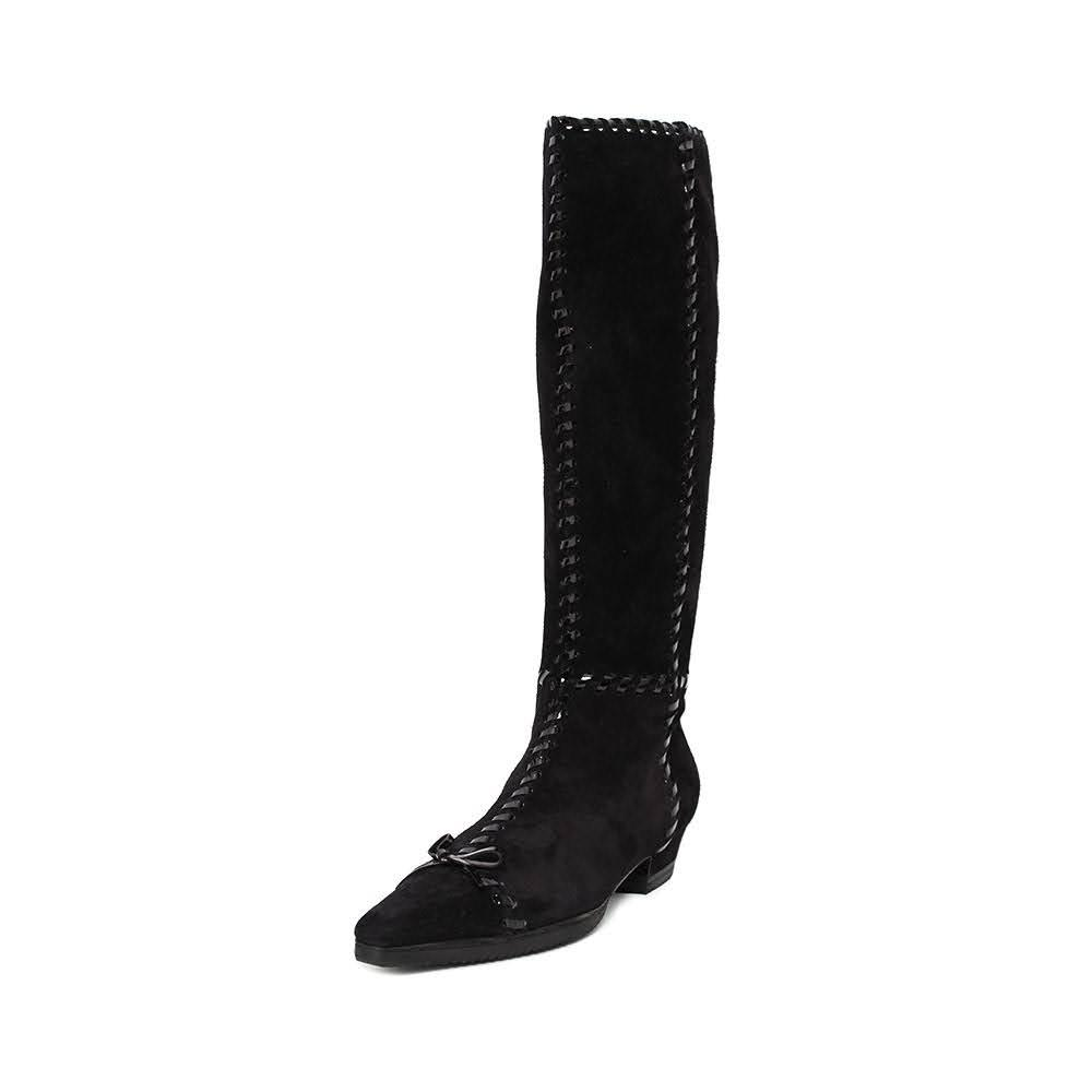 Prada Size 36.5 Black Woven Boots