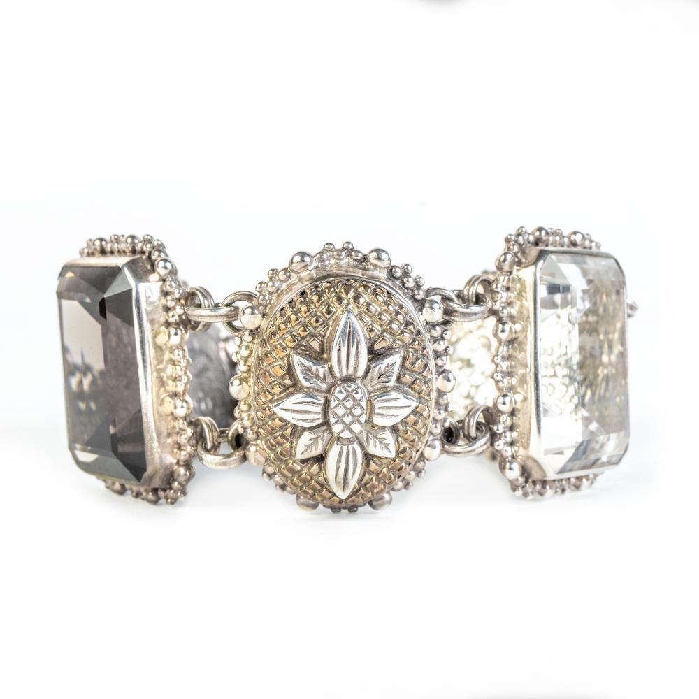 Stephen Dweck 925 Topaz Crystal Bracelet