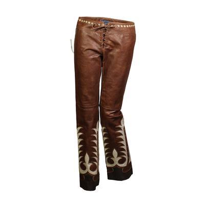 Ralph Lauren Size 2 Leather Western Pant