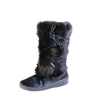 Oscar Sport Size 39 Black Fur Boots