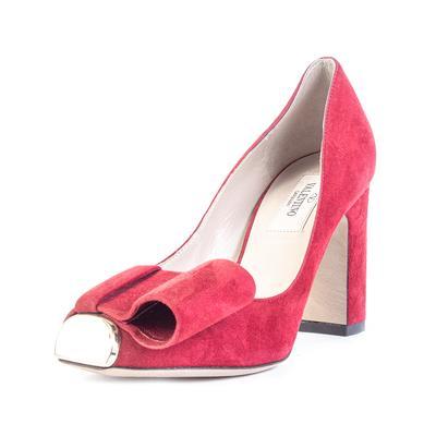Valentino Size 35.5 Red Suede High Heel