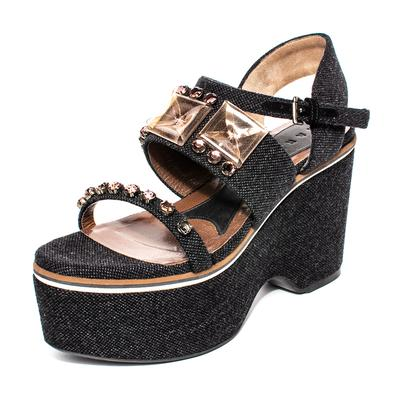 Marni Size 39 Black Jewel Platform Heels