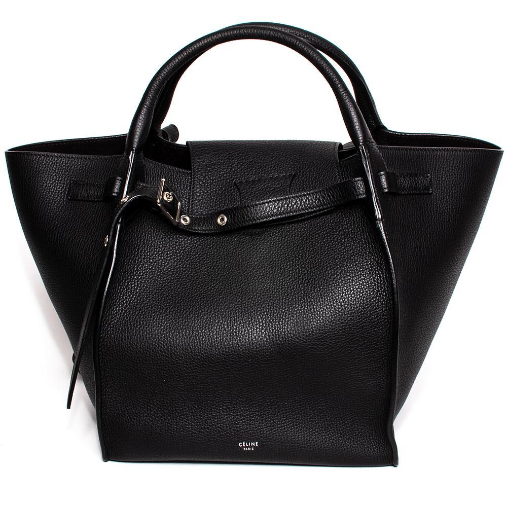 Celine Size Small Black Leather Big Bag