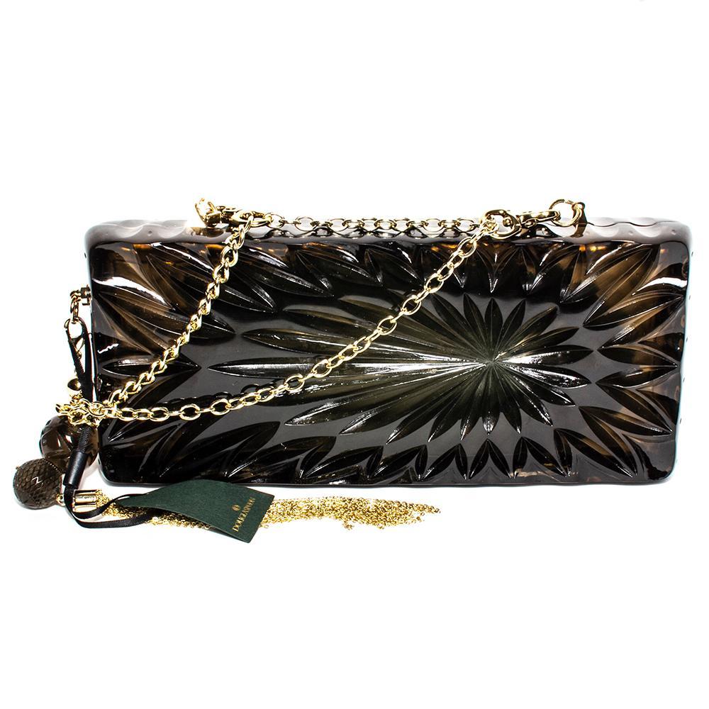 Douglas Poon Black Carved Resin Crossbody Bag