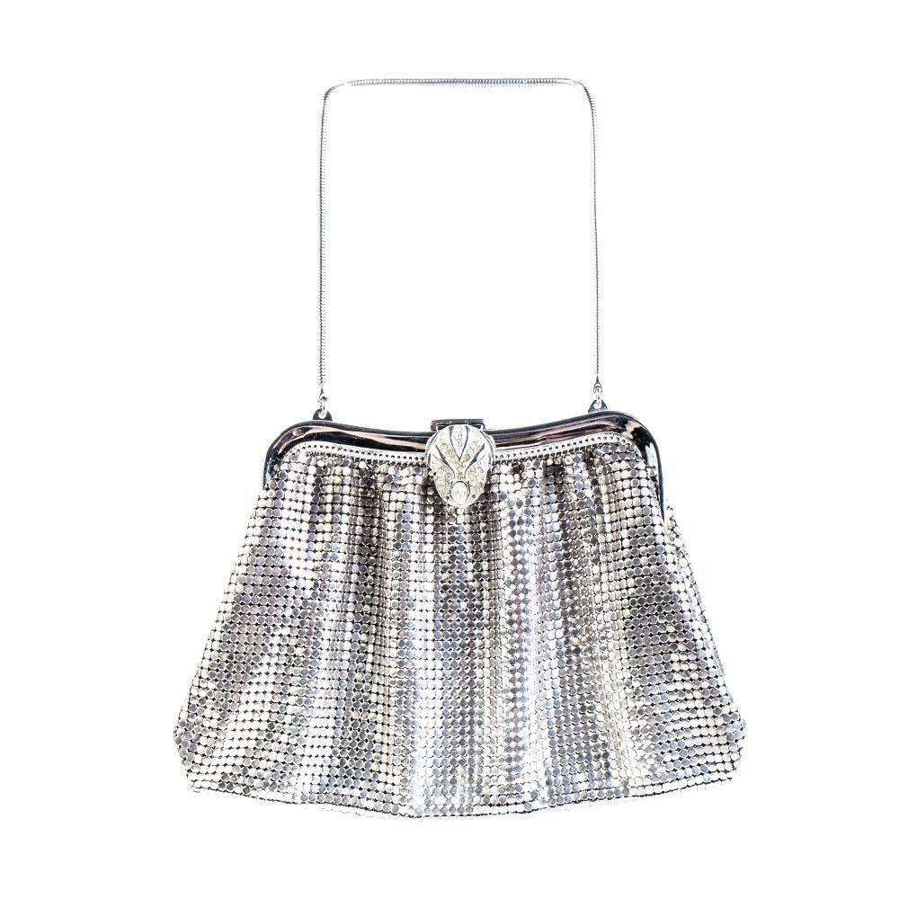 Whiting + Davis Silver Evening Handbag