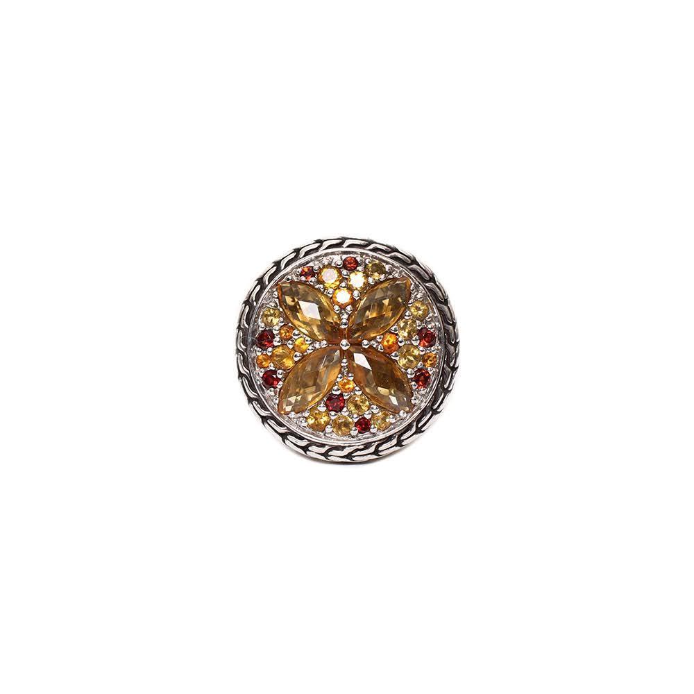 John Hardy Size 7 Citrine Ring