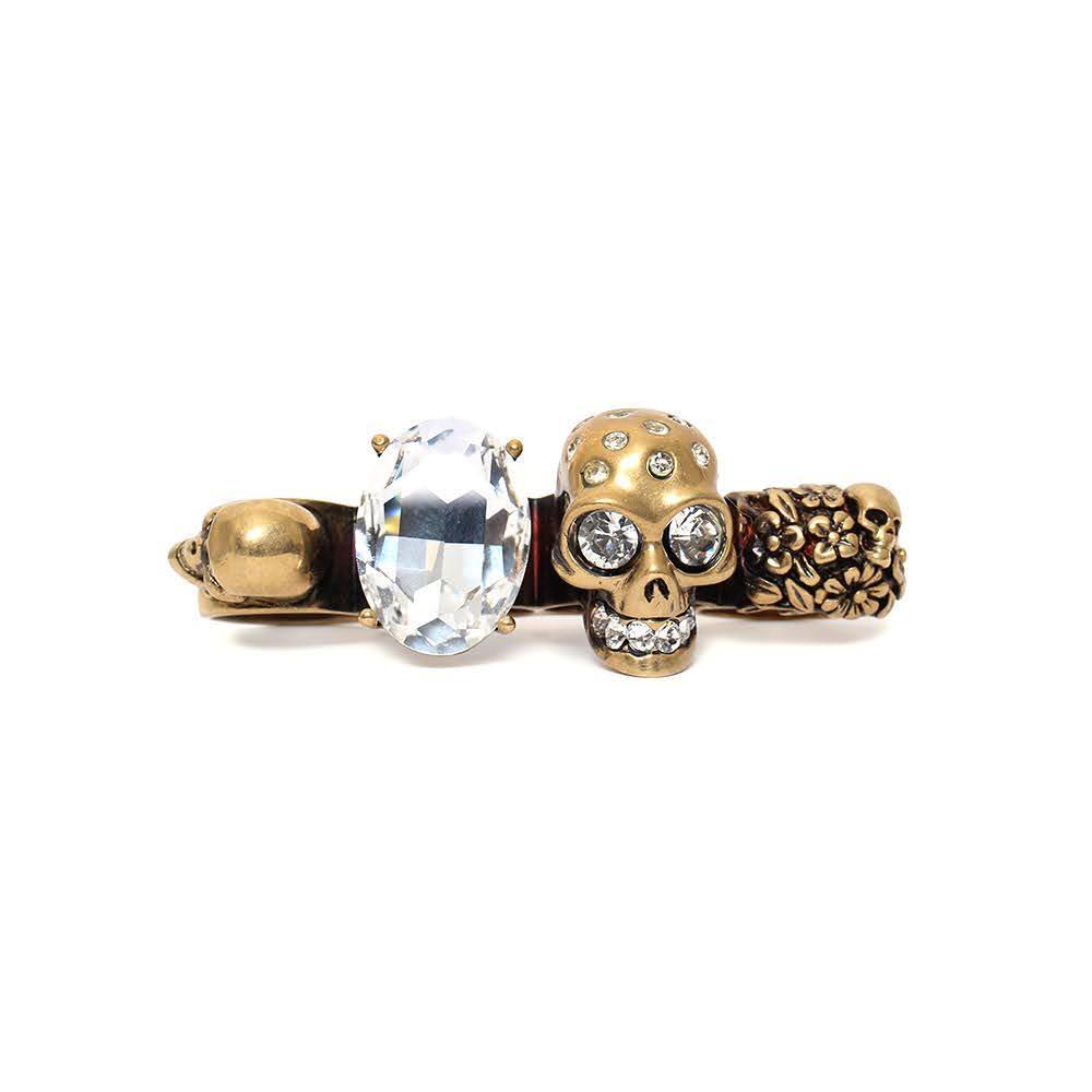 Alexander Mcqueen Size 9.5 Skull Knuckle Ring