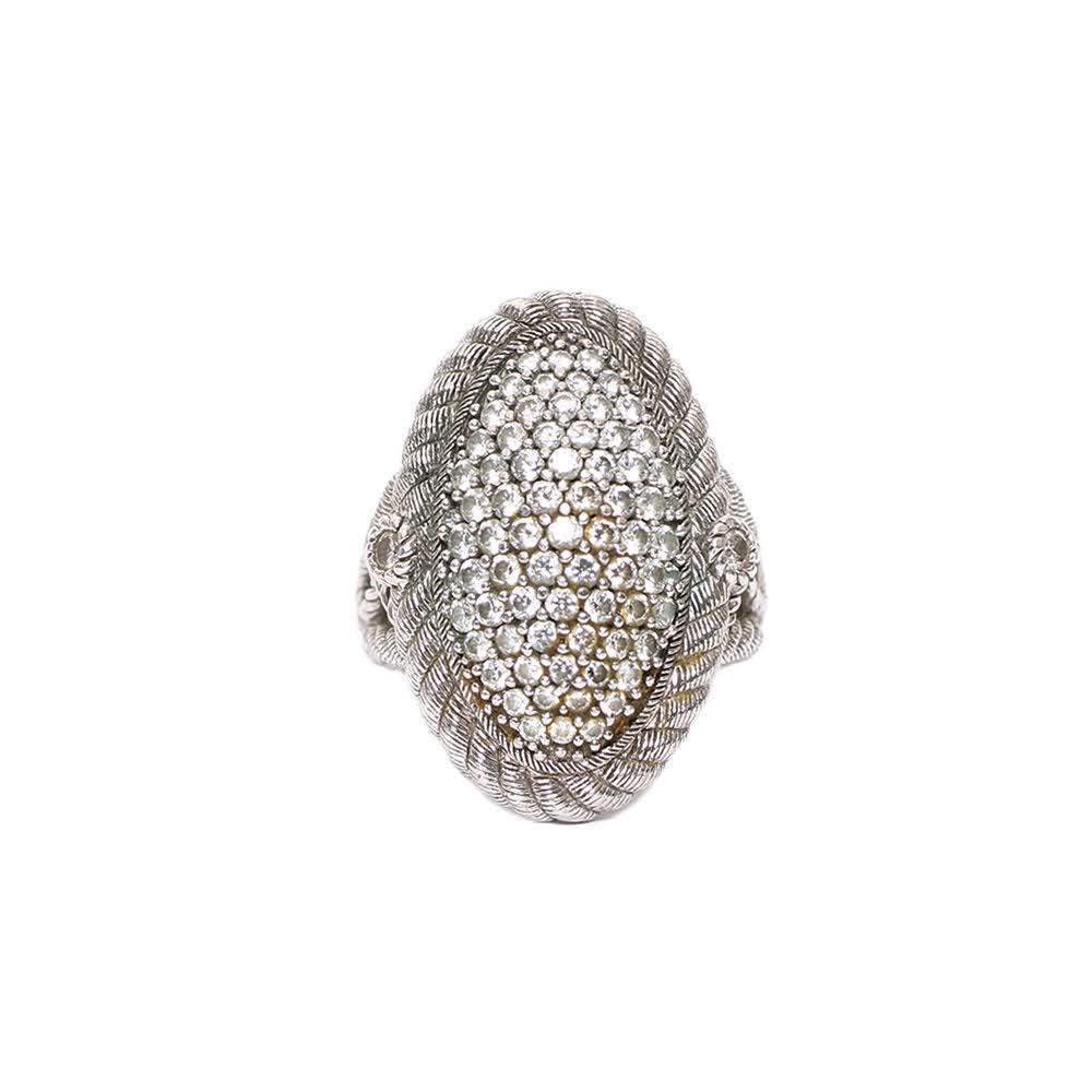 Judith Ripka Size 7 Silver Ring
