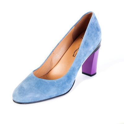 Tanya Heath Size 41 Blue and Purple Heel