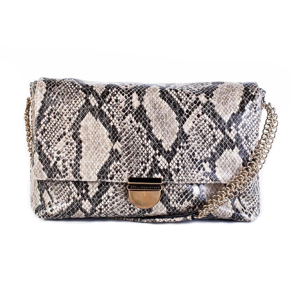 Stella Mccartney Tan Snakeskin Handbag
