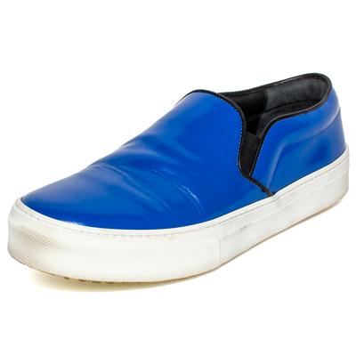Celine Size 38.5 Blue Leather Slip On Sneakers