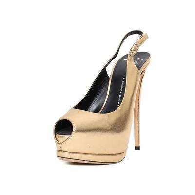Giuseppe Zanotti Size 36 Gold Peep Toe