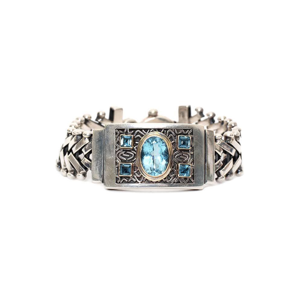 Rodney De Gruchy Blue Topaz Bracelet