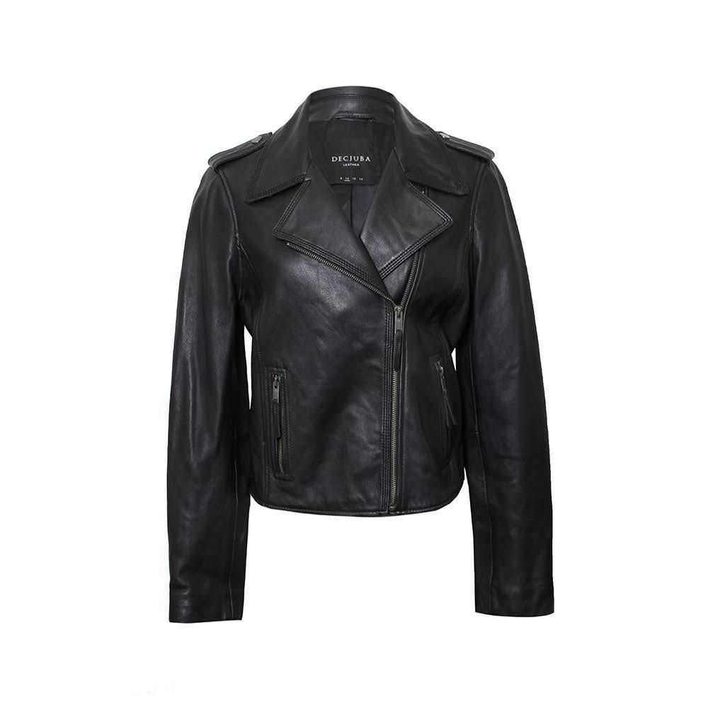 Decjuba Size 10 Leather Jacket