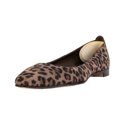 Manolo Blahnik Size 35 Brown Leopard Print Flats