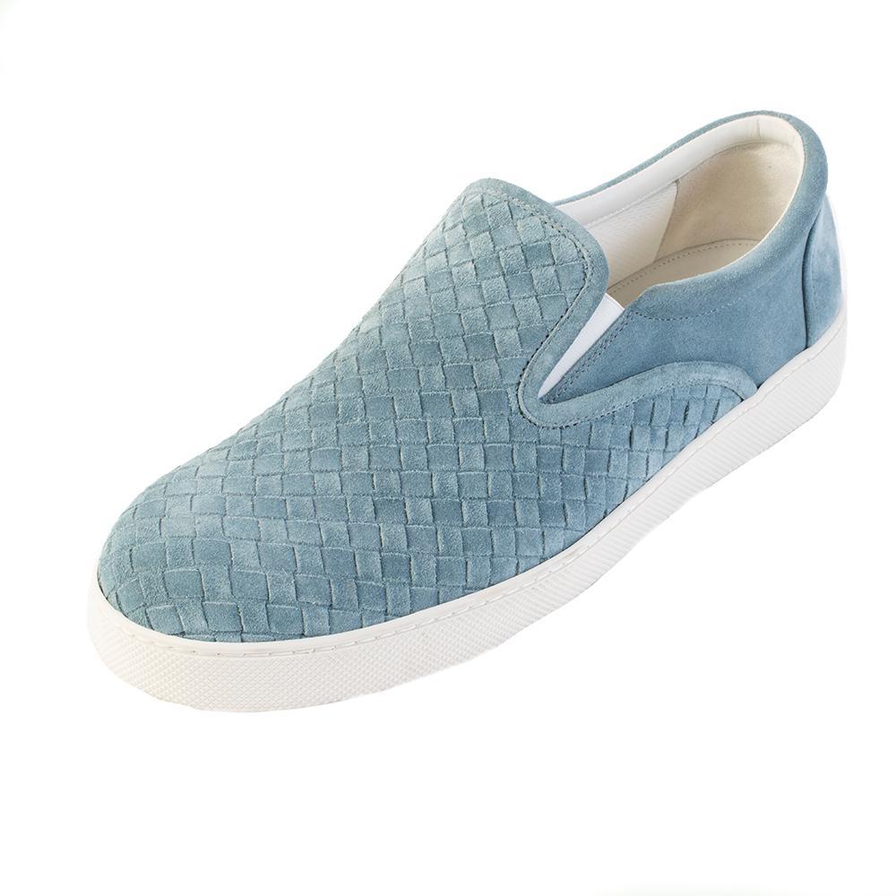 Bottega Veneta Size 10 Powder Blue Slip On Shoes