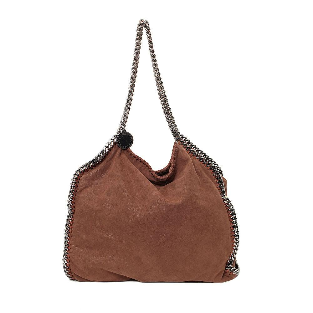 Stella Mccartney Brown Chain Bag