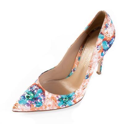 Gianvito Rossi Size 37 Floral Print Heel
