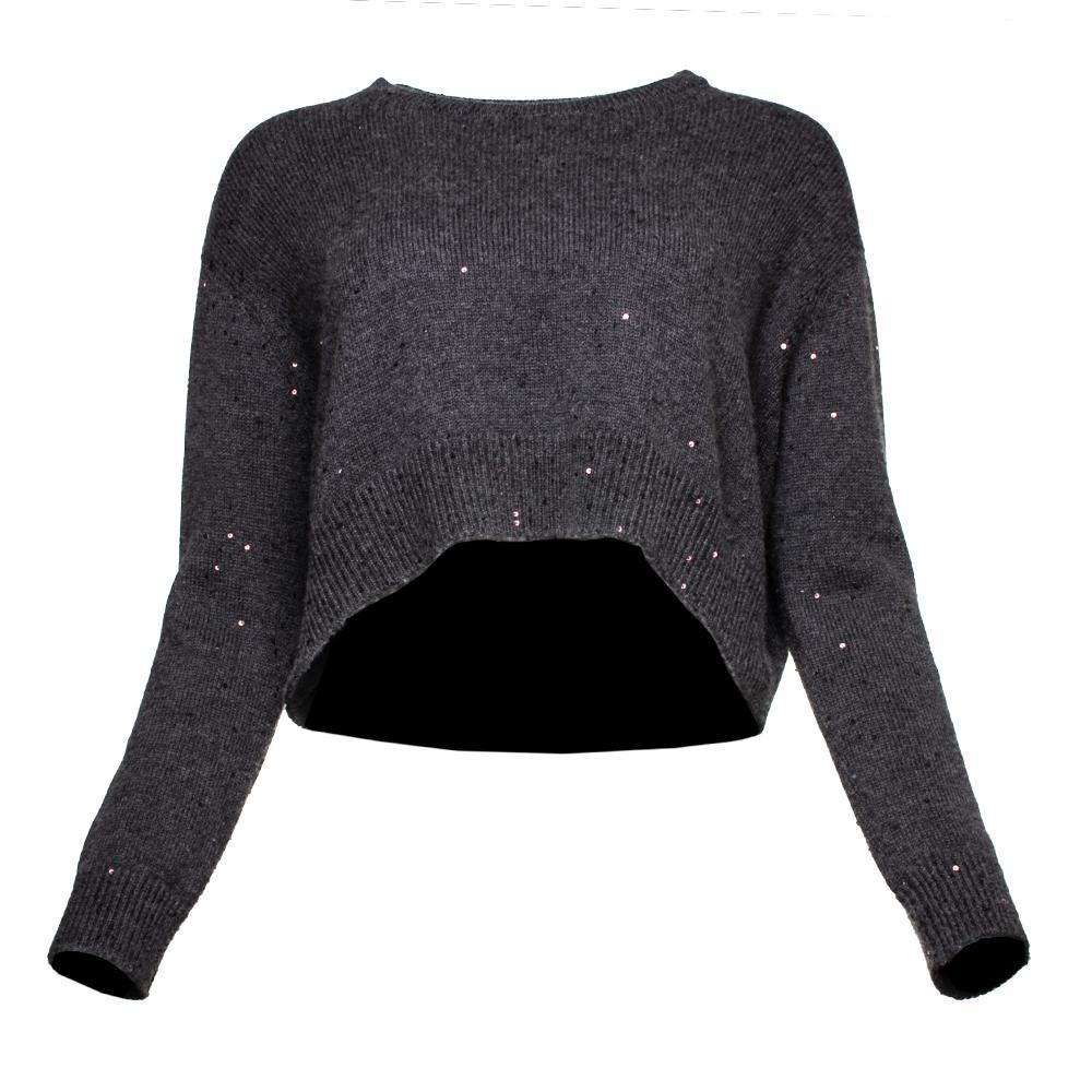 Brunello Cucinelli Size Medium Grey Cashmere Sweater
