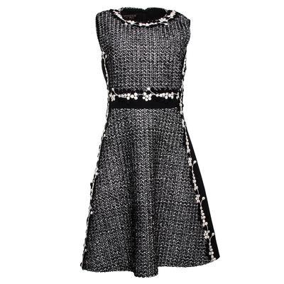 Giambattista Valli Size 42 Black Knitweave Dress