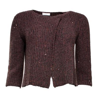 Brunello Cucinelli Size Small Burgundy Sweater