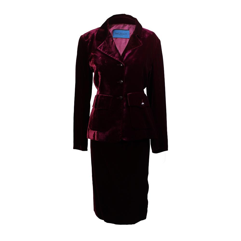 Balmain Size 4 Velvet Suit Set