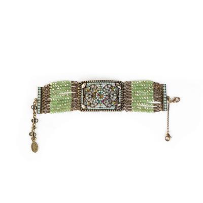 Michal Negrin Green Multi-Color CZ Bracelet